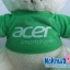 ตุ๊กตาพรีเมี่ยม acer ตุ๊กตาหมีนั่ง11นิ้ว ใส่เสื้อ+สกรีนโลโก้ 2ด้าน D5401Q0800 thumbnail 2