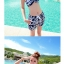 PRE ชุดว่ายน้ำคู่รัก ชุดว่ายน้ำบิกินี่ สายคล้องคอ ลายโซ่ขาว พื้นกรมท่าสวยๆ thumbnail 2
