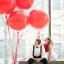 """ลูกโป่งกลมจัมโบ้ไซส์ใหญ่ 36""""Latex Balloon RB Red 3FT สีแดง/ Item No. TQ-42554 แบรนด์ Qualatex thumbnail 1"""