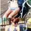 PRE ชุดว่ายน้ำคู่รัก ชุดว่ายน้ำบิกินี่ ลายโบฮีเมียนสีกรมท่า สายคล้องคอ พร้อมชุดคลุมลายสวย thumbnail 11