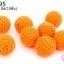 ลูกปัดเม็ดถัก สีส้ม 20มิล(10ชิ้น) thumbnail 1