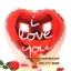 ลูกโป่งฟลอย์รูปหัวใจ สีแดง พิมพ์ลาย I LOVE YOU ไซส์ 18 นิ้ว - Love Series Heart Shape Foil Balloon / Item No. TL-E033 thumbnail 3