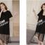 K114003 เดรสคลุมท้องแฟชั่นเกาหลี มี 2 สี ให้เลือก thumbnail 9