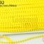 ปอมเส้นยาว (เล็ก) สีเหลือง กว้าง 1ซม(1หลา/90ซม) thumbnail 1
