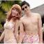 พร้อมส่ง ชุดว่ายน้ำคู่รัก ชุดว่ายน้ำบิกินี่ทูพีซ ลายสัตว์ทะเล พร้อมชุดแซกคลุมผ้าซีทรูสวย thumbnail 12