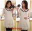 JK017 เสื้อคลุมท้องแฟชั่นเกาหลี สีขาวล้วน ผ้าลูกไม้นิ่มทั้งชุด คอบัวแขน 4 ส่วน แต่ระบายชายแขน thumbnail 1