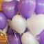 """ลูกโป่งหัวใจ เนื้อสแตนดาร์ทสีม่วง ไซส์ 12 นิ้ว แพ็คละ 10 ใบ (Heart Latex Balloon - Purple Color 12"""") thumbnail 3"""