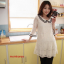 JK017 เสื้อคลุมท้องแฟชั่นเกาหลี สีขาวล้วน ผ้าลูกไม้นิ่มทั้งชุด คอบัวแขน 4 ส่วน แต่ระบายชายแขน thumbnail 2