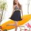 พร้อมส่ง 2XL ชุดว่ายน้ำไซส์ใหญ่ ชุดว่ายน้ำวันพีชทรงชุดแซก บราลายขวาง กระโปรงสีกรมท่า ตัดสีสันด้วยโบว์สีเหลืองสวยๆ thumbnail 5