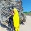 ชุดว่ายน้ำแขนยาวขายาว เซ็ต 4 ชิ้น สีดำตัดขอบลายเหลืองสวยๆ yellow-black soldier thumbnail 7