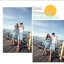 PRE ชุดเดินหาดคู่รัก เดรส แต่งอกระบาย สายคล้องคอหรือผูกโบว์เป็นเกาะอก จั๊มเอว +กางเกงขาสั้นชาย หลายโบฮีเมียนสีสวย thumbnail 6