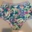 พร้อมส่ง ชุดว่ายน้ำเอวสูง สีชมพู ลายดอกไม้สวยๆ thumbnail 2