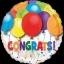 ลูกโป่งฟลอย์นำเข้า Bold Congratulations Balloons / Item No. AG-26893 แบรนด์ Anagram ของแท้ thumbnail 2
