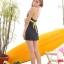 พร้อมส่ง 2XL ชุดว่ายน้ำไซส์ใหญ่ ชุดว่ายน้ำวันพีชทรงชุดแซก บราลายขวาง กระโปรงสีกรมท่า ตัดสีสันด้วยโบว์สีเหลืองสวยๆ thumbnail 6