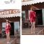 พร้อมส่ง ชุดว่ายน้ำบิกินี่ทูพีซสีแดงเลือดหมู พร้อมชุดเอี๊ยมกางเกงขาสั้น เซ็ตนี้สุดคุ้ม thumbnail 5