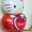 ลูกโป่งฟลอย์ Hello Kitty หัวใจ I Love You สีแดง - Hello Kitty I Love You heart Foil Balloon / Item No. TL-E022 thumbnail 5