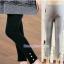 กางเกงเลคกิ้งคลุมท้อง ขายาว : ขอบย่นประดับมุก รหัส PN112 thumbnail 1