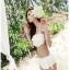 พร้อมส่ง ชุดว่ายน้ำบิกินี่ทูพีซ สายคล้องคอ สีขาวสวย บรา+กางเกงกระโปรงแต่งระบายน่ารัก thumbnail 5
