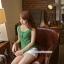 เสื้อคลุมท้องแขนกุด มีกระดุมปรับขนาด : สีเขียว รหัส SH165 thumbnail 4