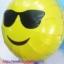 ลูกโป่งฟลอย์กลมสีเหลือง พิมพ์ลายหน้ายิ้ม (ใส่แว่น) TL-A140 ไซส์ 18 นิ้ว/Item No.TL-A140 thumbnail 3