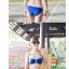 พร้อมส่ง ชุดว่ายน้ำบิกินี่ทูพีซสีน้ำเงิน บราและบิกินี่แต่งห่วงเหล็กสวยๆ thumbnail 2