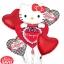 ลูกโป่งฟลอย์ Hello Kitty หัวใจ I Love You สีแดง - Hello Kitty I Love You heart Foil Balloon / Item No. TL-E022 thumbnail 9