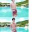PRE ชุดว่ายน้ำคู่รัก ชุดว่ายน้ำบิกินี่ สายคล้องคอ พร้อมชุดคลุมแซกลายโบฮีเมียนสวยเก๋ thumbnail 6