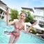 พร้อมส่ง ชุดว่ายน้ำ Bikini ผูกข้าง สีแดงแต้มลายจุดขาวน่ารัก สายคล้องคอ thumbnail 6