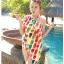 พร้อมส่ง ชุดว่ายน้ำคู่รัก บิกินี่ เซ็ต 3 ชิ้น colorful สีสันสดใส (บรา+บิกินี่+ผ้าคลุมซีทรู) thumbnail 4