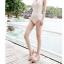พร้อมส่ง ชุดว่ายน้ำวันพีชสายคล้องคอ สีขาวงาช้าง ผ้าตาข่ายมีซับด้านใน จีบย่นด้านข้างสวยๆ thumbnail 4