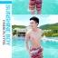 PRE ชุดว่ายน้ำคู่รัก ชุดว่ายน้ำบิกินี่ สายคล้องคอ พร้อมชุดคลุมแซกลายโบฮีเมียนสวยเก๋ thumbnail 7