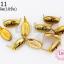 เป็กติดเสื้อ ทรงรี สีทอง 8X15 มิล(10ชิ้น) thumbnail 1