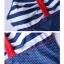 พร้อมส่ง ชุดว่ายน้ำทูพีช สายเดี่ยว สีกรมท่าสดใส สไตล์ทหารเรือ thumbnail 10