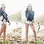 ชุดว่ายน้ำแขนยาว สีน้ำเงินกรมท่า+ขาว เซ็ต 3 ชิ้น แขนยาวซิปหน้า+บราสีกรมท่า+กก.ขาสั้นสีขาว thumbnail 6