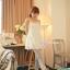 กางเกงผ้าคอตตอนคลุมท้องขายาว ลายไม้ : สีเทา รหัส PN184 thumbnail 2