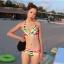 พร้อมส่ง ชุดว่ายน้ำคู่รัก บิกินี่ เซ็ต 3 ชิ้น colorful สีสันสดใส (บรา+บิกินี่+ผ้าคลุมซีทรู) thumbnail 5