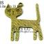 จี้ทองเหลืองรูปแมว ขนาด 25 มิล ยาว 33 มิล thumbnail 1