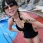พร้อมส่ง ชุดว่ายน้ำวันพีซ Monokini สายคล้องคอแบบผูก เว้าช่วงเอว ดูเซ็กซี่มากๆ thumbnail 2