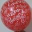 """ลูกโป่งกลมพิมพ์ลาย Happy Birth Day คละสี แบบที่ 1 ไซส์ 12 นิ้ว จำนวน 10 ใบ (Round Balloons 12"""" - Happy Birth Day Design no. 1 latex balloons) thumbnail 1"""