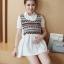 K92004 เสื้อคลุมท้องแฟชั่นเกาหลี โทนสีขาว ผ้านิ่มใส่สบาย ใส่แล้วรับรองน่ารักค่ะ thumbnail 2