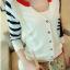 เสื้อคลุมแฟชั่นเกาหลี เย็บแต่งสีทูโทนสวยเก๋ น้ำเงิน-แดง thumbnail 3
