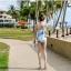 พร้อมส่ง ชุดว่ายน้ำวันพีซผ้าลายน่ารักๆ ทรงเกาะอก แต่งระบายเก๋ๆ thumbnail 4