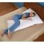 """Body Pillow หมอนบอดี้ขนห่านเทียม ขนาด 20"""" X 50"""" หนัก 2000 กรัม นอนหนุนก็ได้ กอดเป็นหมอนข้างก็สบายด้วยใยขนเป็ดเทียม thumbnail 3"""