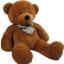 ตุ๊กตาหมียิ้ม ตุ๊กตาตัวใหญ่ สีน้ำตาลเข้ม ขนาด 1.2 เมตร thumbnail 1