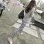 กางเกงผ้าคอตตอนขาวยาว ลาย BOHEMIAN สีดำ : SIZE M รหัส PN181 thumbnail 7