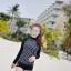 ชุดว่ายน้ำแขนยาวสีดำลายจุดขาว แขนสกรีนลาย (เสื้อ+กางเกง) ผู้หญิง thumbnail 8