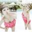 พร้อมส่ง ชุดว่ายน้ำวันพีซ Monokini สายเสื้อเดี่ยว แต่งระบายด้านหน้า หลังเว้าลึก น่ารักสไตล์เกาหลี thumbnail 43