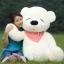 ตุ๊กตาหมีหลับ ตุ๊กตาตัวใหญ่ ขนาด 1.2 เมตร สีขาว thumbnail 1