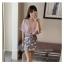 เสื้อแฟชั่นเกาหลี แขน 2 ส่วนแต่งระบายใหญ่ สวยเก๋ สีชมพูอ่อน + สร้อยคอ thumbnail 1
