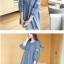 K0804 เสื้อคลุมท้องแฟชั่นเกาหลี โทนสียีนส์ ผ้าฝ้าย เนื้อนิ่ม อย่างดีค่ะ แต่งด้วยลูกไม้ช่วงแขน ใส่สบาย ใส่แล้วไม่ร้อนค่ะ thumbnail 2